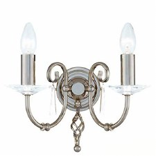 Elstead Aegean Double Wall Light Nickel
