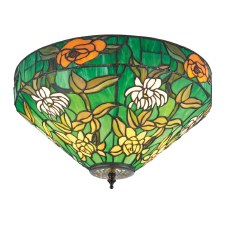Interiors 1900 Agapantha Tiffany Flush Light 74439