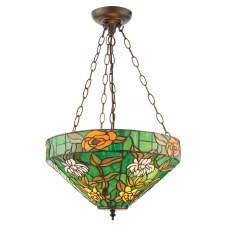 Interiors 1900 Agapantha Tiffany Inverted Pendant 74438