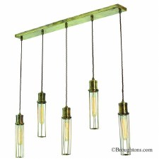 Alexander 5 Light Bar Pendant Antique Brass