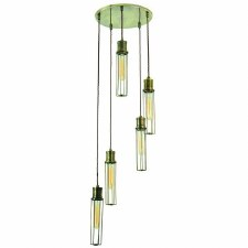 Alexander 5 Light Cluster Pendant Antique Brass