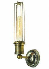 Alexander Single Wall Light Antique Brass
