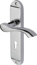 Heritage Algarve Door Lock Handles MM924 Polished Chrome