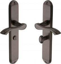 Heritage Algarve Long Bathroom Door Handles MM7230 Matt Bronze