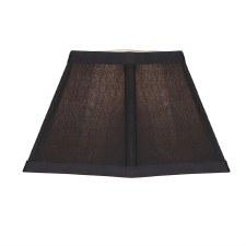 "Interiors 1900 Alice Faux Silk Shade 5"" Black ANY5BL"