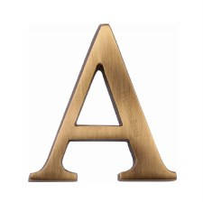 Heritage C1565 Letter A Antique Brass