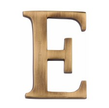 Heritage C1565 Letter E Antique Brass