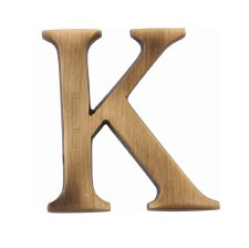 Heritage C1565 Letter K Antique Brass