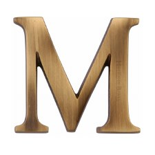 Heritage C1565 Letter M Antique Brass