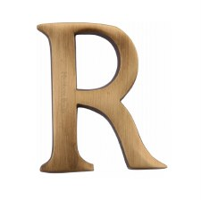Heritage C1565 Letter R Antique Brass