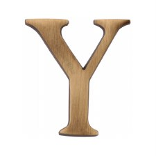 Heritage C1565 Letter Y Antique Brass