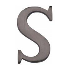Heritage C1565 Letter S Matt Bronze
