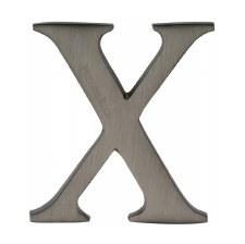 Heritage C1565 Letter X Matt Bronze
