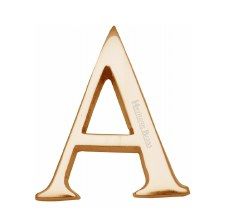 Heritage C1565 Letter A Polished Brass