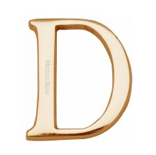 Heritage C1565 Letter D Polished Brass