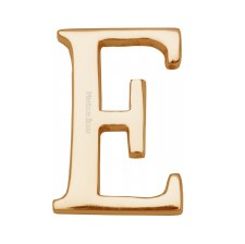 Heritage C1565 Letter E Polished Brass