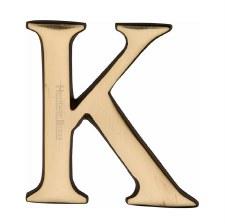 Heritage C1565 Letter K Polished Brass