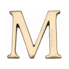 Heritage C1565 Letter M Polished Brass
