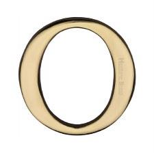 Heritage C1565 Letter O Polished Brass