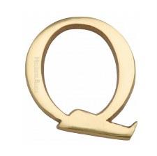 Heritage C1565 Letter Q Polished Brass