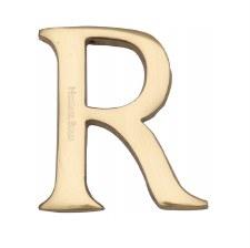 Heritage C1565 Letter R Polished Brass
