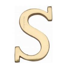 Heritage C1565 Letter S Polished Brass