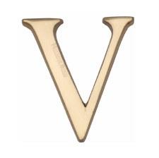 Heritage C1565 Letter V Polished Brass