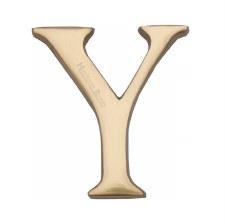 Heritage C1565 Letter Y Polished Brass