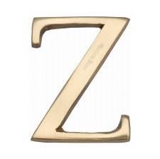 Heritage C1565 Letter Z Polished Brass