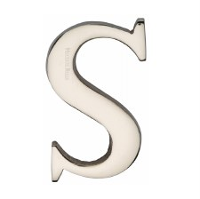 Heritage C1565 Letter S Polished Nickel