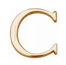 Heritage C1565 Letter C Satin Brass