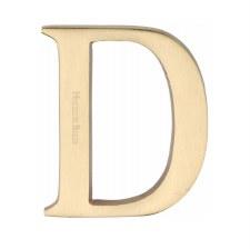 Heritage C1565 Letter D Satin Brass