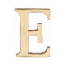 Heritage C1565 Letter E Satin Brass