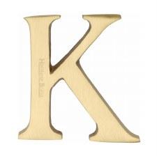 Heritage C1565 Letter K Satin Brass