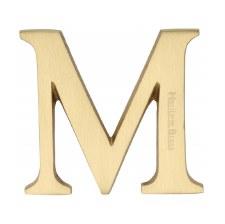 Heritage C1565 Letter M Satin Brass