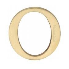Heritage C1565 Letter O Satin Brass