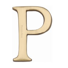 Heritage C1565 Letter P Satin Brass