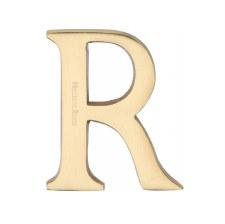 Heritage C1565 Letter R Satin Brass