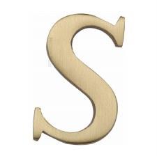 Heritage C1565 Letter S Satin Brass