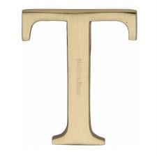 Heritage C1565 Letter T Satin Brass
