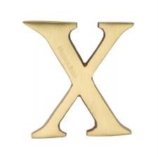 Heritage C1565 Letter X Satin Brass