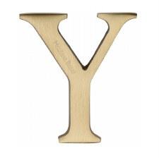 Heritage C1565 Letter Y Satin Brass