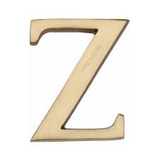 Heritage C1565 Letter Z Satin Brass
