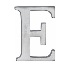 Heritage C1565 Letter E Satin Chrome
