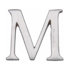 Heritage C1565 Letter M Satin Chrome