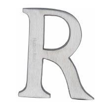 Heritage C1565 Letter R Satin Chrome
