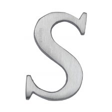 Heritage C1565 Letter S Satin Chrome