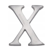 Heritage C1565 Letter X Satin Chrome