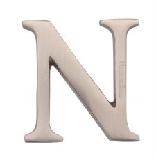 Heritage C1565 Letter N Satin Nickel