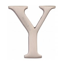 Heritage C1565 Letter Y Satin Nickel